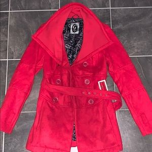 G by guess red pea coat s